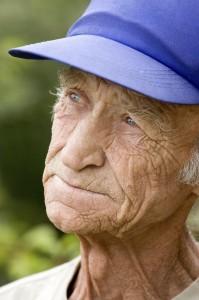 Elderly the man